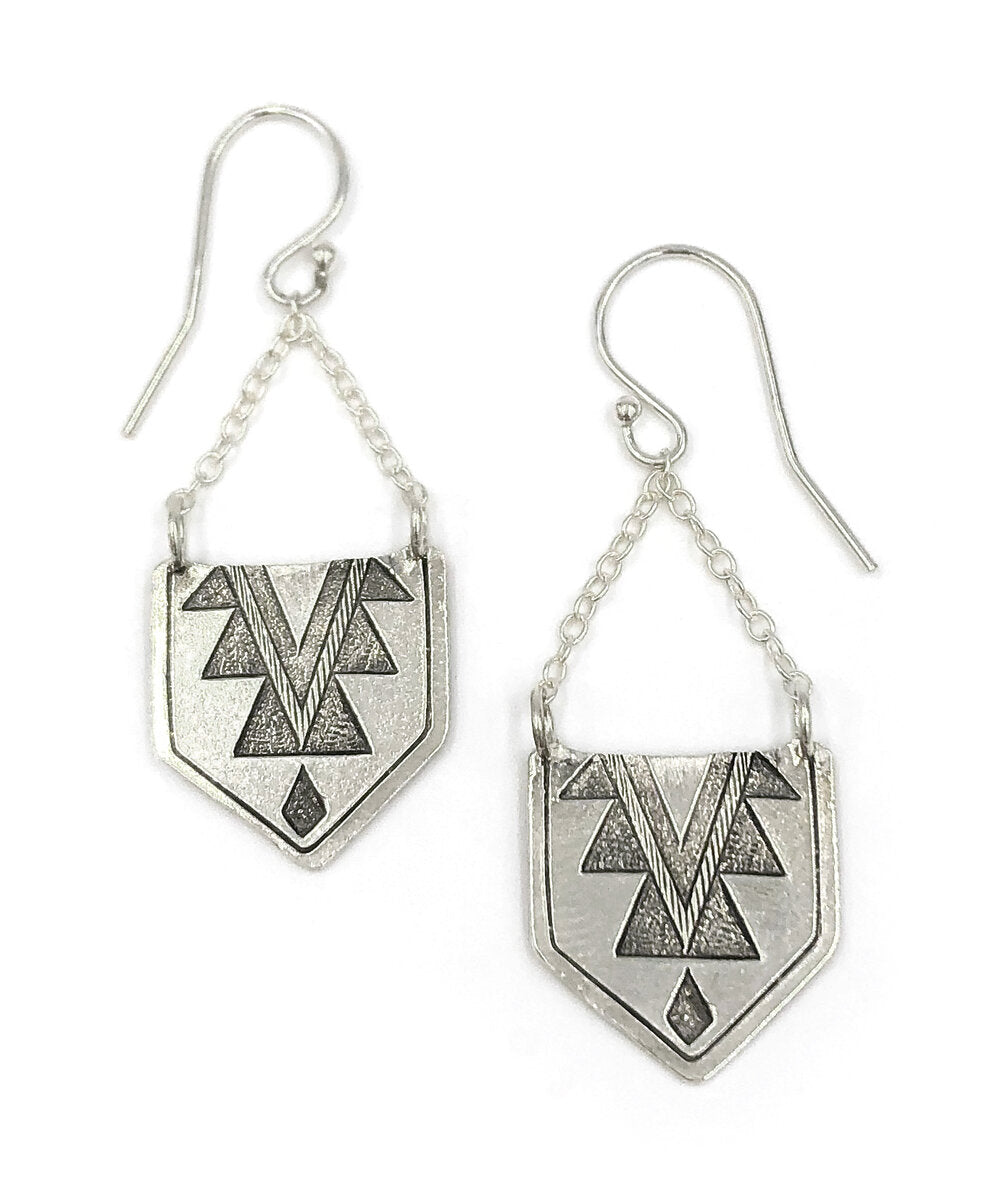 Mayan Hanging Earrings