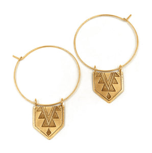 Mayan Hoop Earrings
