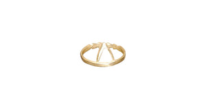 Take Me To The Beach ring - gold vermeil