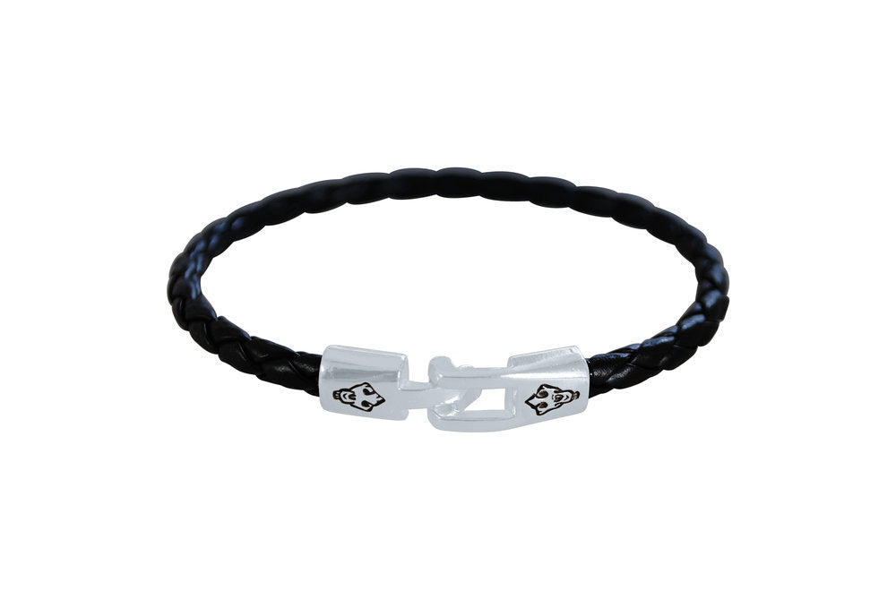 Lion Skull Leather Bracelet