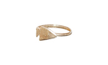 Load image into Gallery viewer, Arrow Head Ring Gold Plated
