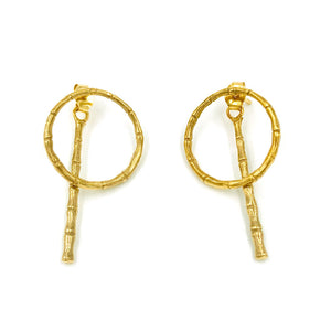 Bamboo Hoops with Drop