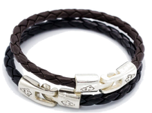 Load image into Gallery viewer, Lion Skull Leather Bracelet