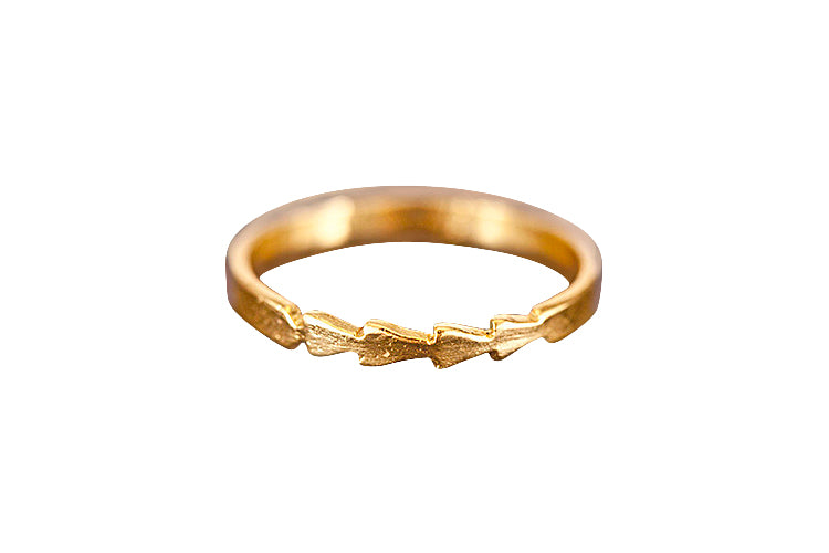 The Tomahawk Ring (Gold Vermeil)