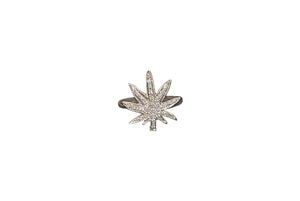 The MaryJane ring with diamonds