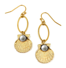 Load image into Gallery viewer, Shell Drop Earrings