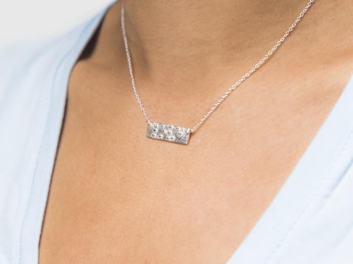 Love Is Blind Braille Necklace