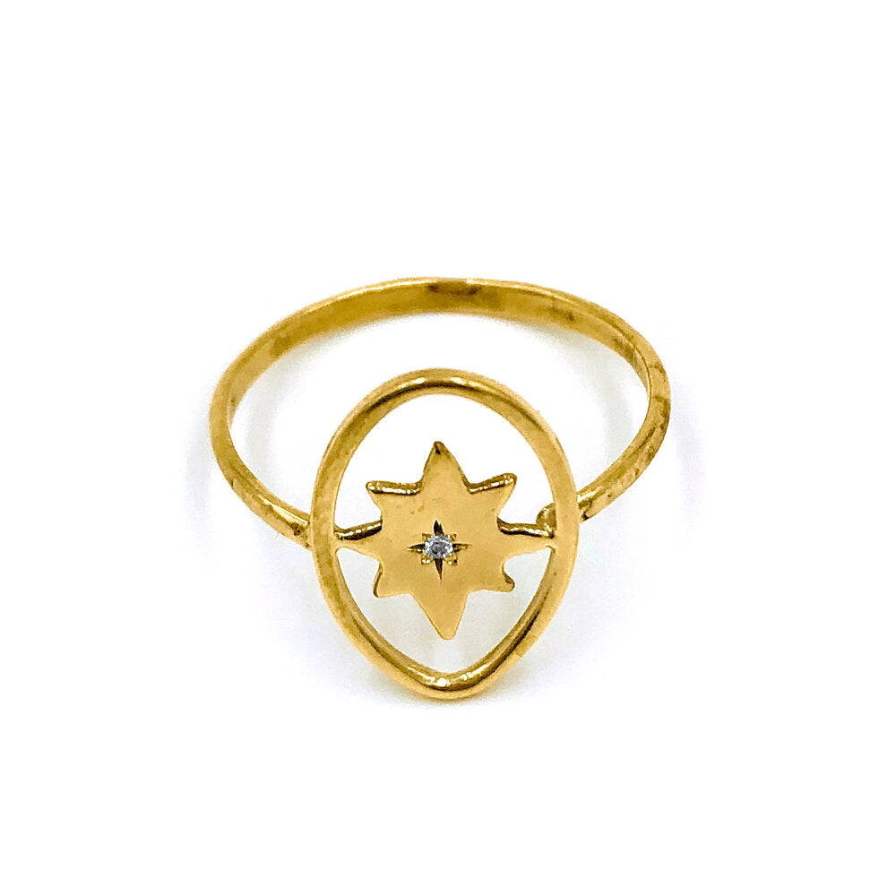 True North Compass Ring
