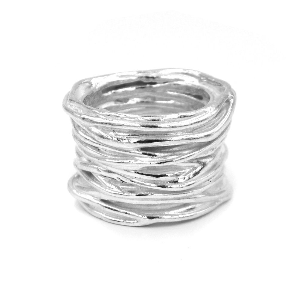Twisted Storm Ring (Silver)