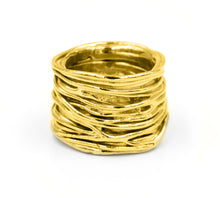 Load image into Gallery viewer, Twisted Storm Ring (Gold Plated)