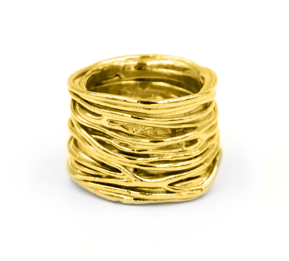 Twisted Storm Ring (Gold Plated)