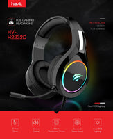 Black Gaming Headset Multicolor LED