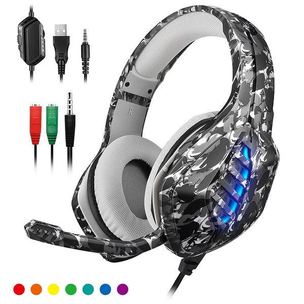 Lightweight Camo Camouflage Gaming Headset