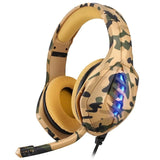 Lightweight Yellow Desert Camo Camouflage Gaming Headset
