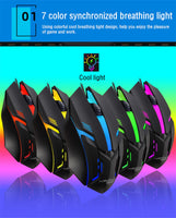 Raxfly Wired S1 Breathing Gaming Mouse w/ 7 Colors