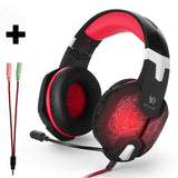 Neon Red Headset PC Console