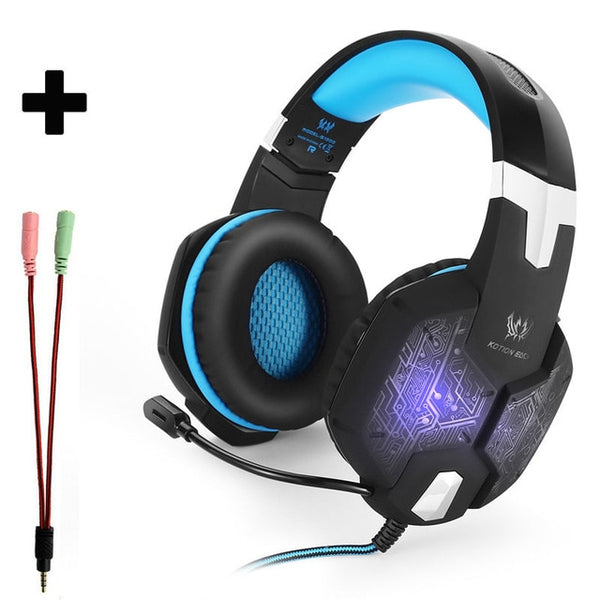 Neon Blue Headset PC Console