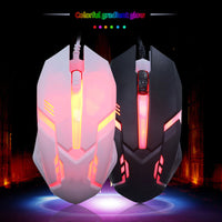 Black and White RGB LED Gaming Mouse