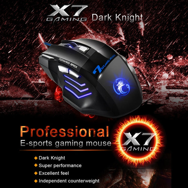 Black X7 Dark Knight Professional Gaming Mouse