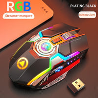1600 DPI Silent Wireless Rechargeable LED Gaming Mouse w/ 7 Keys