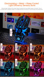 Black Silver Mechanical Gaming Mouse 7 Colors LED