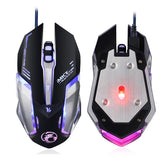 Black Silver Mechanical Gaming Mouse