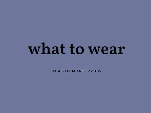 What To Wear In A Zoom Meeting