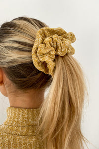 Yellow Mustard Knit Scrunchie