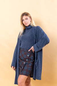 Blue Long Cardigan
