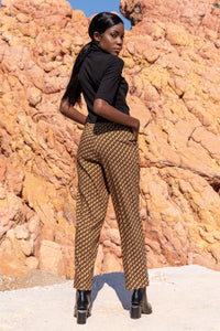 Mustard Tailored Trousers