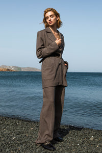 Chocolate Brown Oversized Blazer