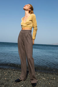 Chocolate Brown Tailored Pants