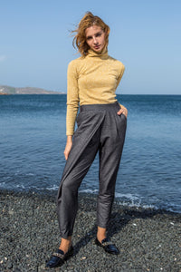 Grey High-Waisted Pants