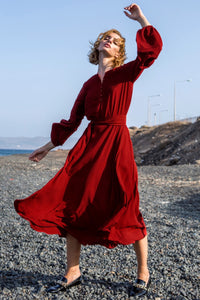 Brick Red Shift Dress