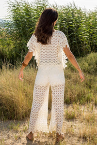 Cream Lace Co-ord Pants