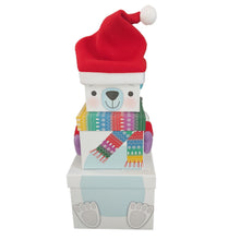 Load image into Gallery viewer, Polar Bear Stacking Gift Boxes
