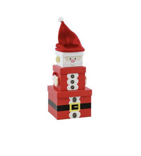 Load image into Gallery viewer, Santa Stacking Gift Box front