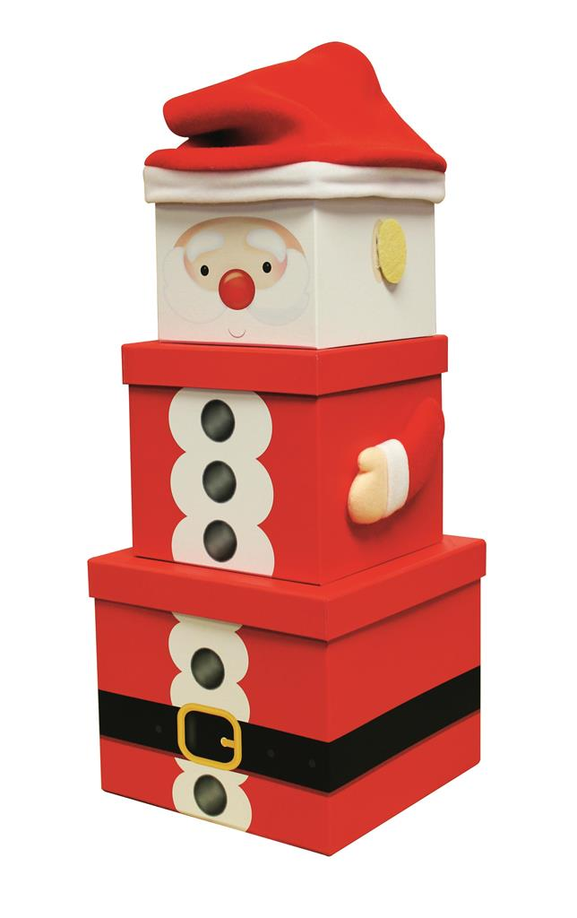 XL Santa stacking gift boxes