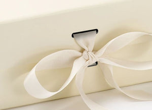 Ivory A5 Luxury Magnetic Gift Box with Ribbon detail