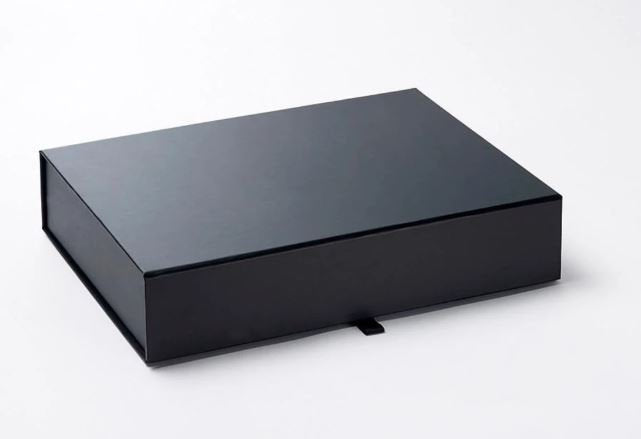 Black A4 Luxury Slimline Magnetic Gift Box front