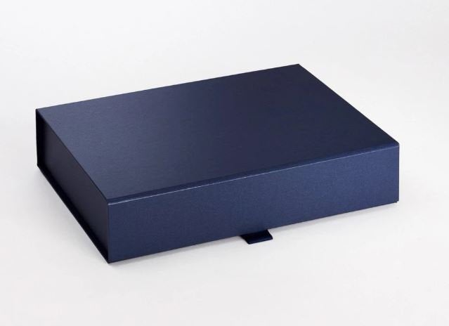 Navy Blue A4 Luxury Slimline Magnetic Gift Box front