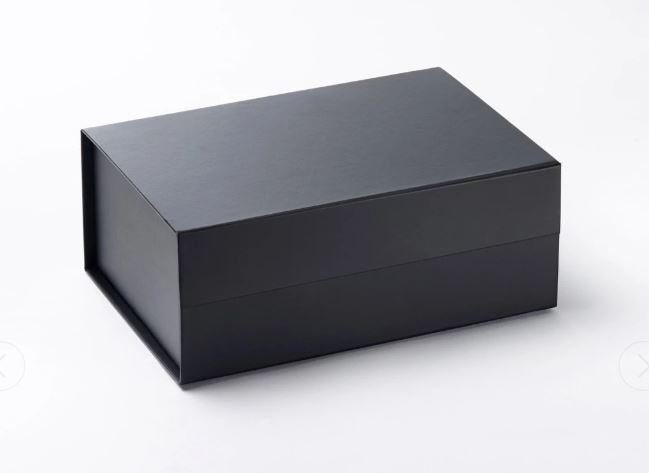 Black A5 Deep Magnetic Gift Box front