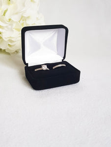 Black Velvet Double Ring Box 3