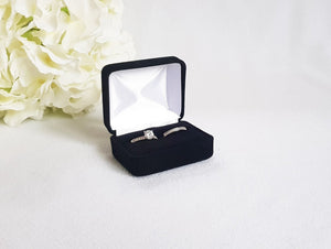 Black Velvet Double Ring Box 1