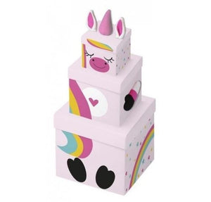 Children's Unicorn Stacking Gift Box diagonal