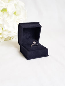 Black Luxury Suede Single Ring Box title
