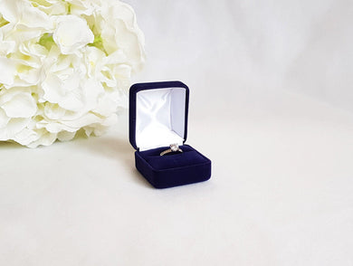 Navy Blue Single Ring Box title