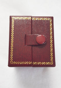 Red Double Door Leatherette Traditional Style Double Ring Box 5