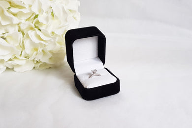 Black Suede Single Ring Box title