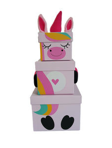 Children's Unicorn Stacking Gift Box front zoom